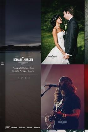 le nouveau site de Romain Lhuissier photographe mariage Tours